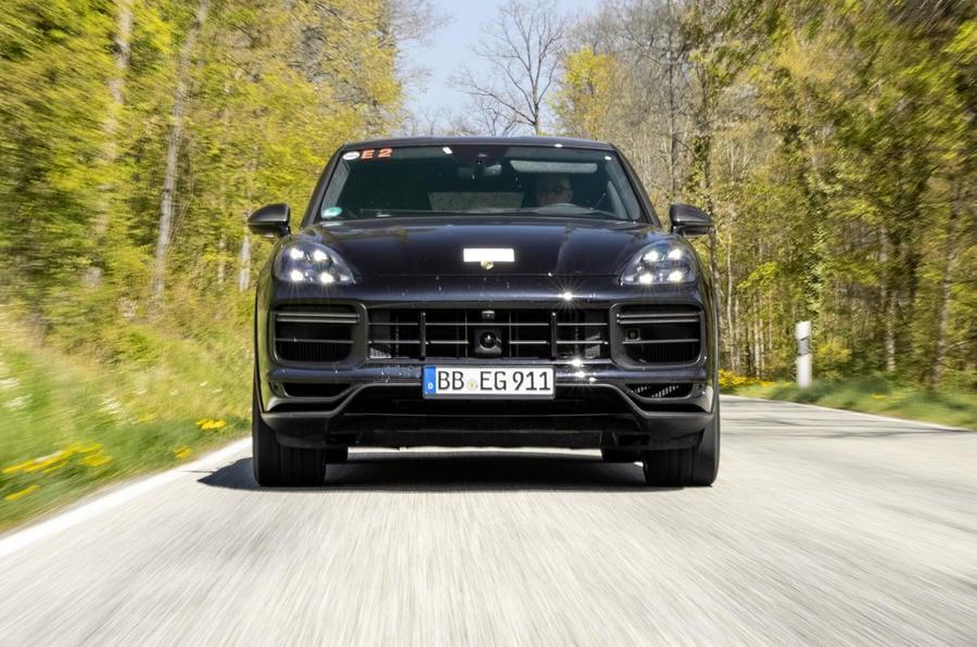 84 porsche cayene turbo coupe prototype 2022 on road nose 0