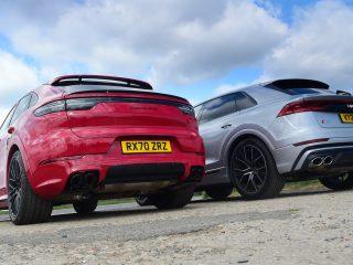 Audi SQ8 vs Porsche Cayenne Coupe GTS 4