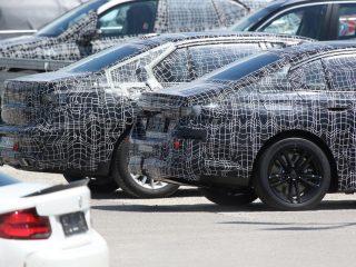 2022 BMW 5 i5 spy pics 6