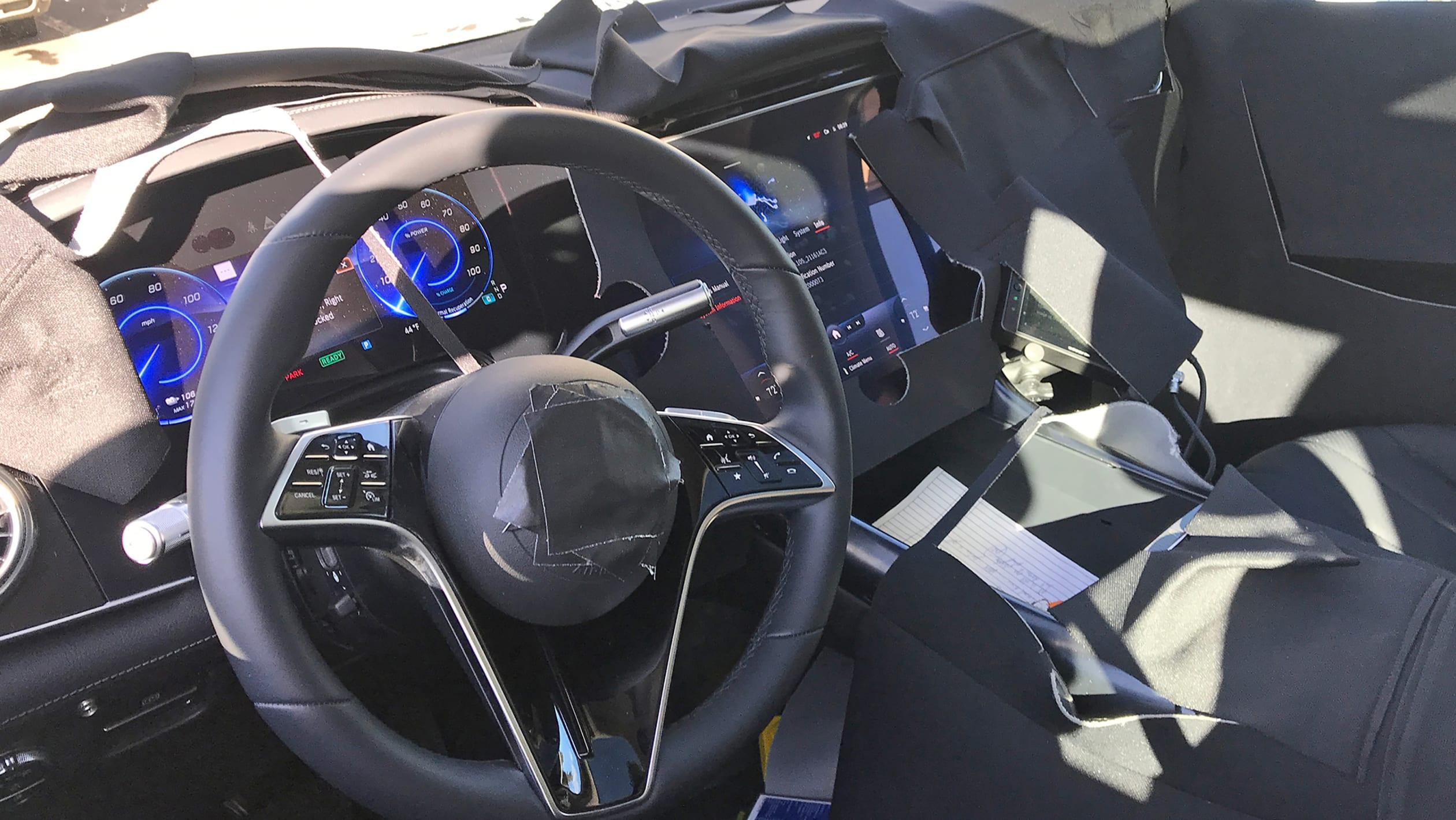 Mercedes Benz EQS SUV spy pics 2021 5