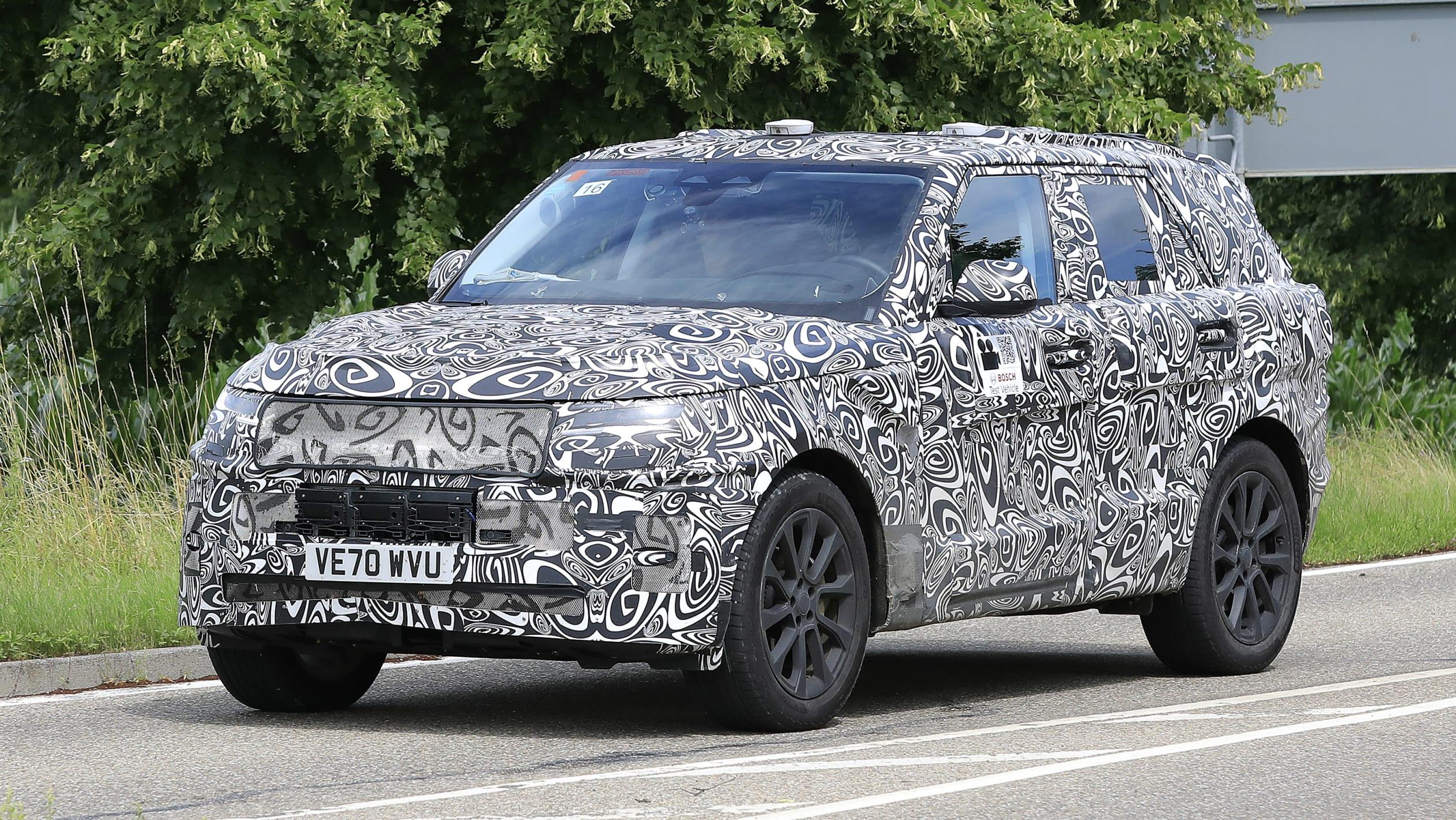 Range Rover Sport spyshots 2021