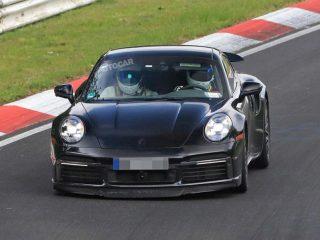 porsche 911 turbo hybrid spy pics nurburgring 1