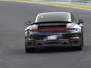 porsche 911 turbo hybrid spy pics nurburgring 6