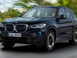 2022 BMW iX3 facelift front three quarters