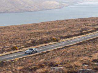 audi e tron GT special feature driving road landscape