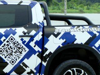 2022 Ford Ranger test car camo 5
