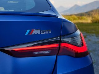 9 bmw i4 m50 2021 first drive review rear badge