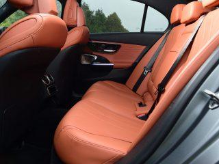 Mercedes C300e 2021 rear seats